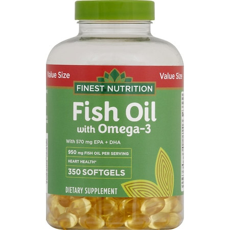 Finest nutrition fish oil 1000 mg softgels walgreens for Fish oil nutrition