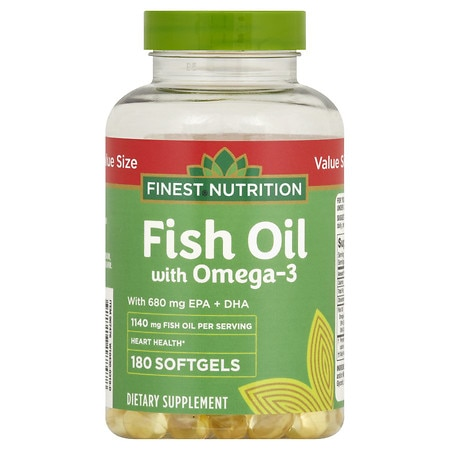 Finest nutrition fish oil 1200 mg softgels walgreens for Fish oil nutrition