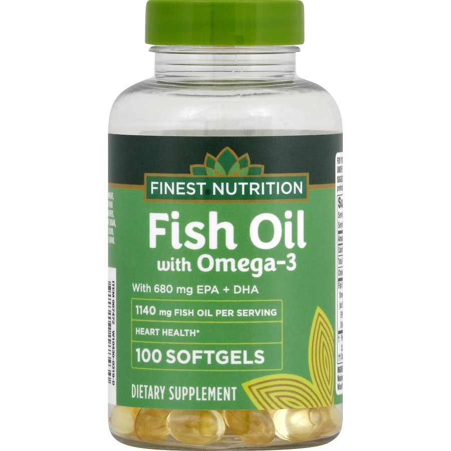 Finest nutrition fish oil 1200 mg softgels walgreens for Finest nutrition fish oil
