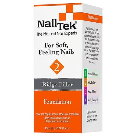 Nail Tek Ridge Filler Base Coat For Soft, Peeling Nails - 0.5 oz.