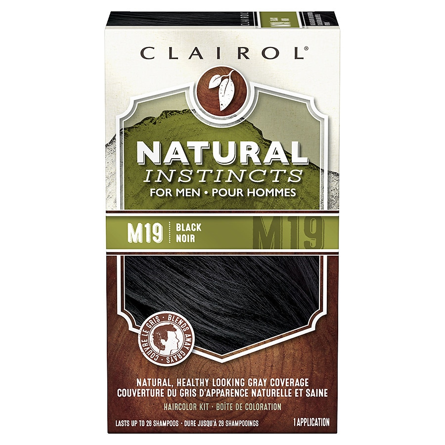 Clairol Natural Instincts For Men Hair Colorm19 Black Walgreens