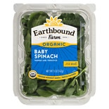 Earthbound Farms Baby Spinach Salad