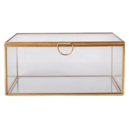 Modern Expressions Glass Jewelry Box Gold ...  sc 1 st  Walgreens & Modern Expressions Glass Jewelry Box Gold | Walgreens Aboutintivar.Com