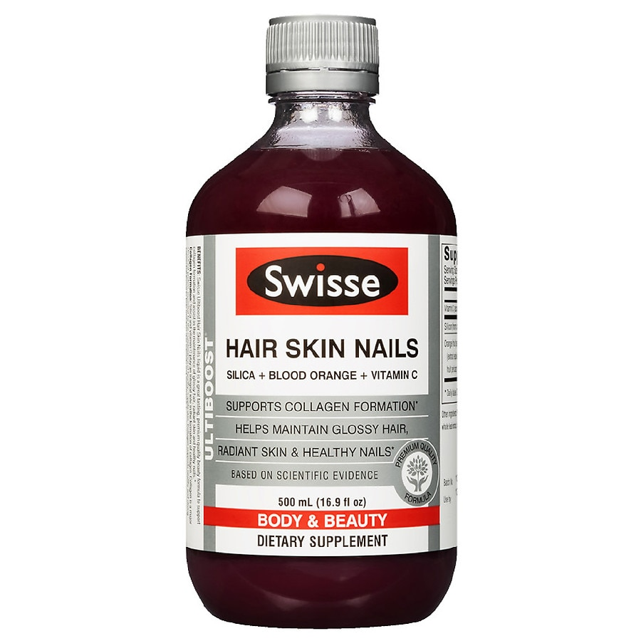 Swisse Hair Skin & Nails Liquid Supplement Blood Orange16.9 oz