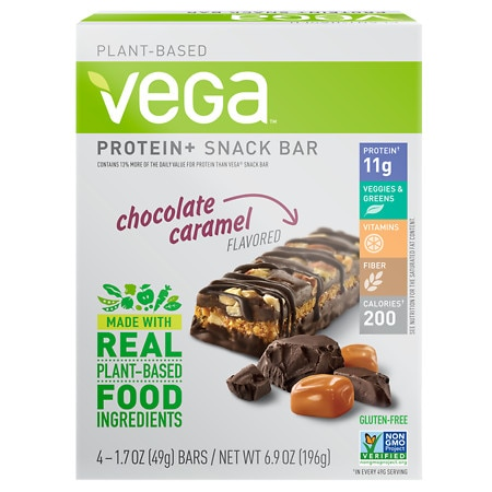 Vega Protein+ Snack Bar Chocolate Caramel - 1.7 oz. x 4 pack