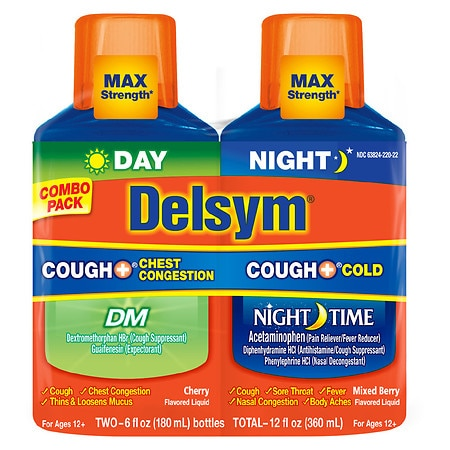 Delsym Cough Plus Day/Night Combo Pack - 1 ea