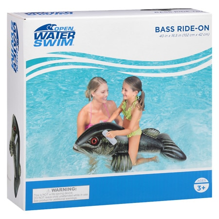 Open Water Bass Ride-On 40x16.5 inch - 1 ea