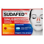 Sudafed PE Day/ Night  Sinus Congestion Tablets