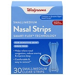 Walgreens Nasal Strips Small/ Medium Clear