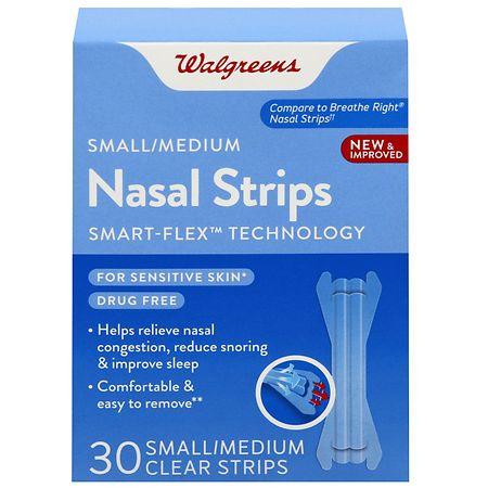 Walgreens Nasal Strips Small/Medium - 30 EA
