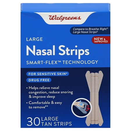Walgreens Nasal Strips Large - 30 EA