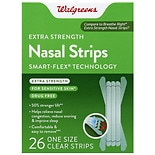 Walgreens Extra Strength Nasal Strips One Size Clear