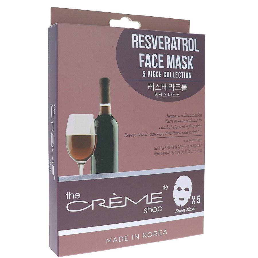 The Creme Shop Resveratrol Sheet Face Mask 5pc Collection