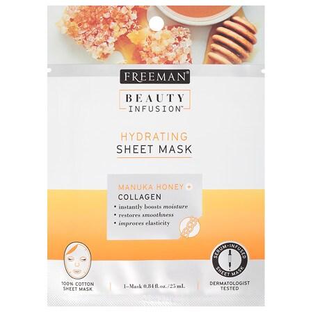 Beauty Infusion HYDRATING Manuka Honey & Collagen Sheet Mask - 0.84 oz.