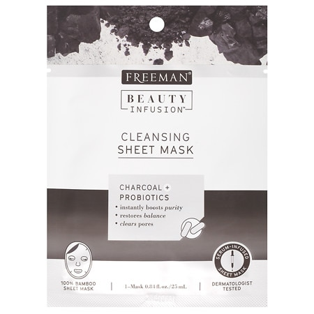 Beauty Infusion CLEANSING Charcoal & Probiotics Sheet Mask - 0.84 oz.