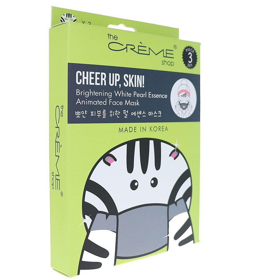 The Creme Shop Cheer up, Skin! Zebra Sheet Face Mask - Hyaluronic Acid &  White Pearl Essence