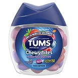 Tums Chewy Bites Antacid, Hard Shell Chews for Heartburn Relief Assorted Berry