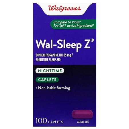 Walgreens Sleep Z Caplets - 100 ea