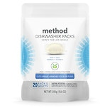Method Dishwasher Detergent Packs Free + Clear, 20 Count