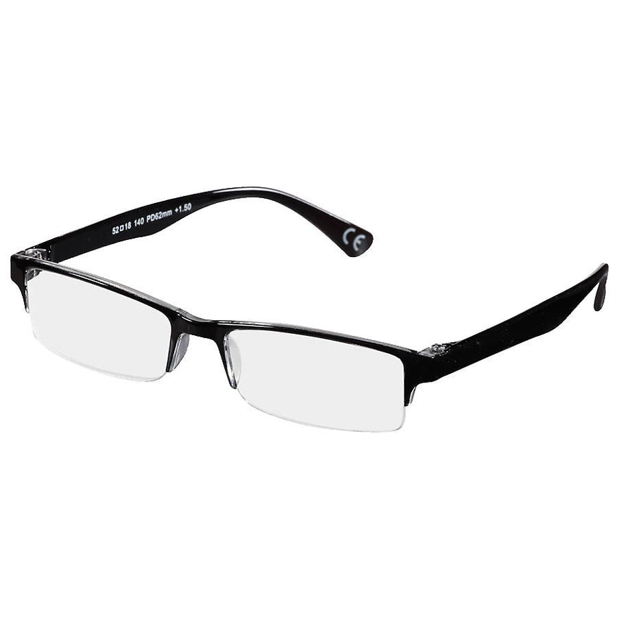 Foster Grant Pete Reading Glasses 2 Black | Walgreens