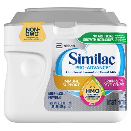 Similac Pro-Advance Non-GMO with 2'-FL HMO Infant Formula with Iron Powder Makes 178 Ounces - 23.2 oz