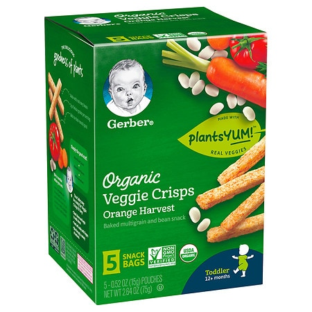 Gerber Organic Veggie Crisps Orange Harvest - 2.64 oz.