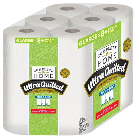 12-Count (2 x 6-Pack) Ultra Quilted Super Premium Large Paper Towels