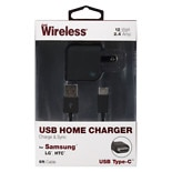 Just Wireless Home Charger USB to USB 2.4 Amp 6 foot Black