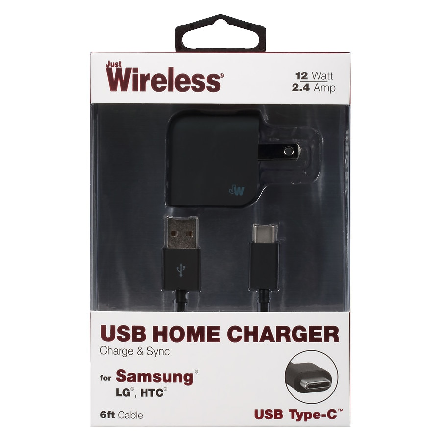 Phone chargers walgreens just wireless home charger usb to usb 24 amp 6 foot black keyboard keysfo Images