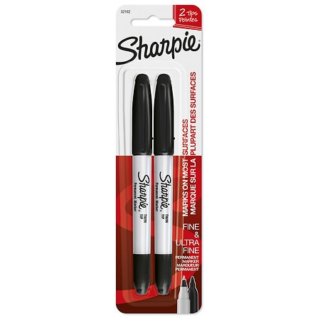 Sharpie Markers Fine/Ultra-Fine Point Fine & Ultra Fine - 2 ea