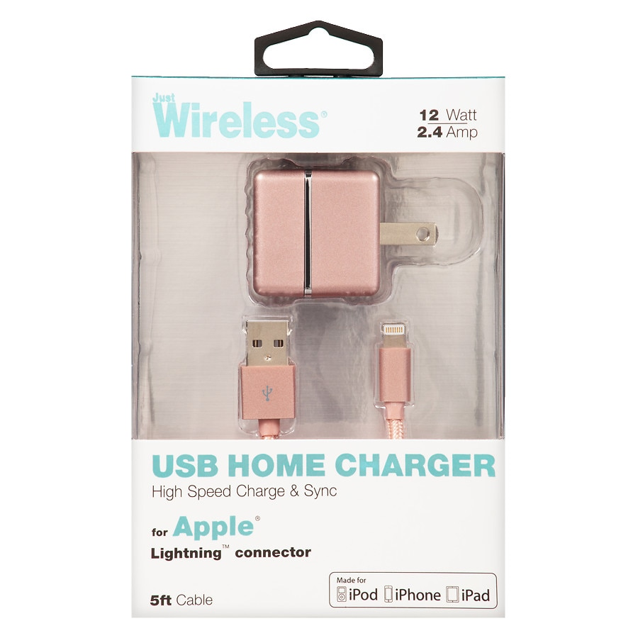 walgreens iphone charger just wireless apple ac usb charger 2 4 amp 5 foot 13261