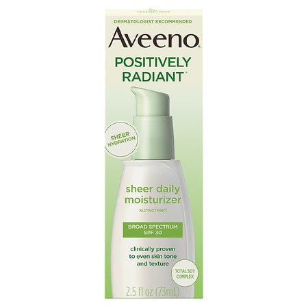 Aveeno Active Naturals Positively Radiant Sheer Hydration SPF 30 - 2.5 fl oz