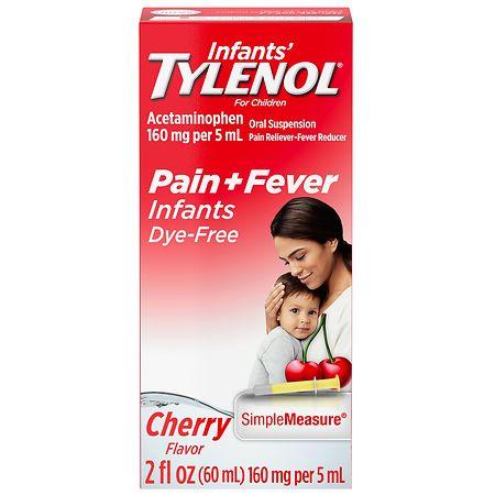 Children's TYLENOL Infants' Oral Suspension Dye-Free Cherry - 2 fl oz