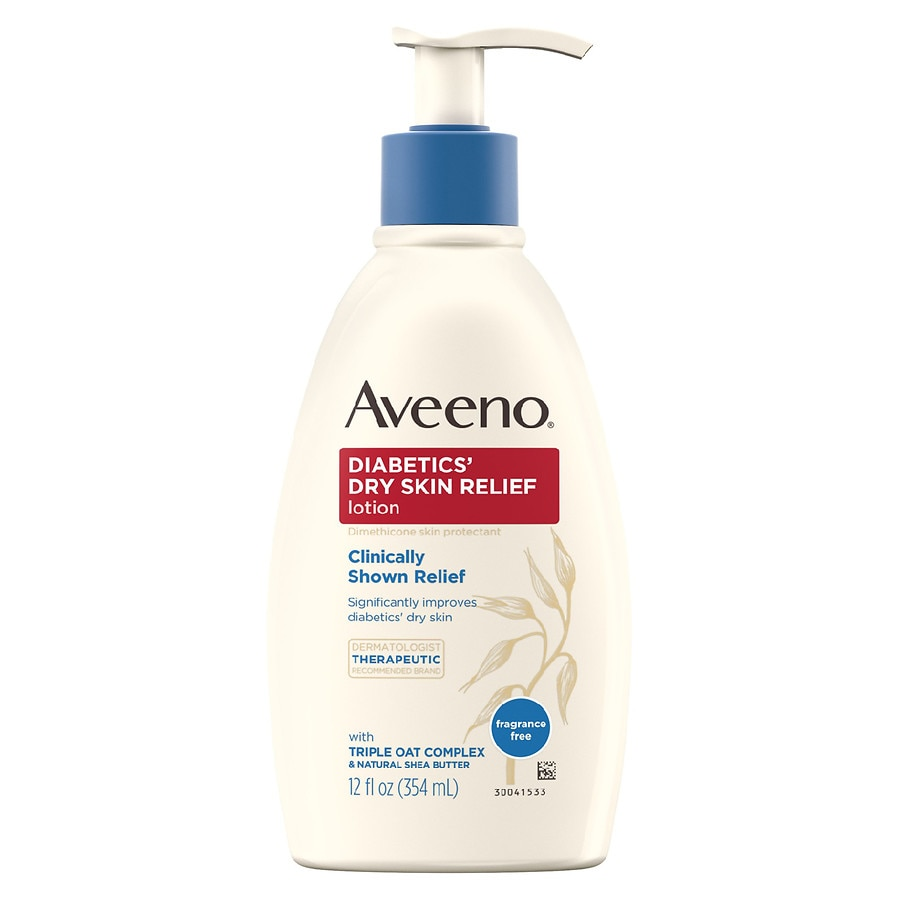 Aveeno Diabetics Dry Skin Relief Lotion Fragrance Free Fragrance
