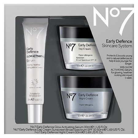 No7 Early Defence Skincare System ($67 value) - 1 ea