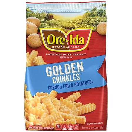Crinkle Cut French Fried Potatoes Bag