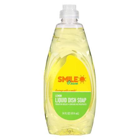 Smile & Save Dish Soap Lemon - 14 fl oz
