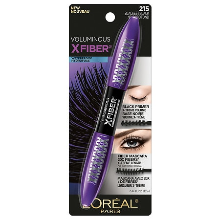 d54b5b89610 L'Oreal Paris Voluminous X Fiber Waterproof Mascara Blackest Black 2150.44  oz
