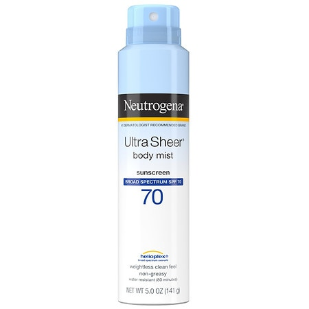 Neutrogena Ultra Sheer Spray Sunscreen SPF 70 - 5 oz.