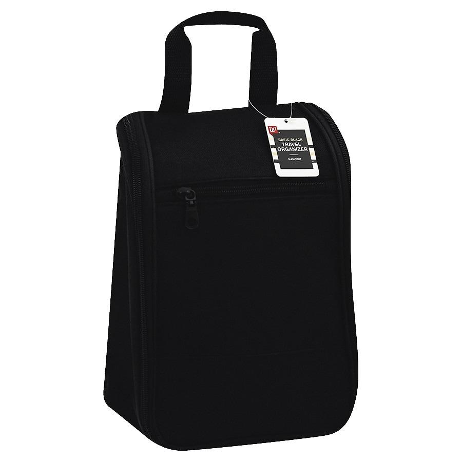 Walgreens beauty basic black hanging travel bag