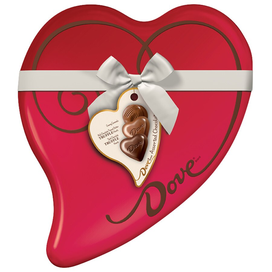Dove Valentine S Assorted Chocolate Candy Heart Gift Box Walgreens
