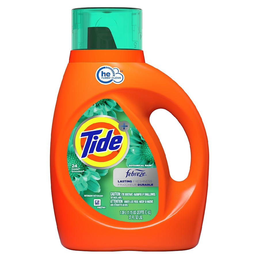 Tide With Febreze Freshness High Efficiency Liquid Detergent Botanical Rain37.0 fl oz(1.09L)