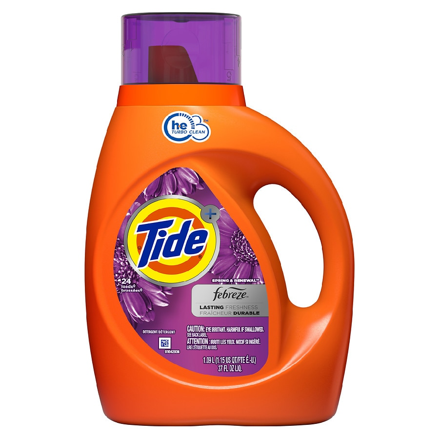 Tide With Febreze Freshness Liquid Detergent Spring and Renewal37.0 fl oz(1.09L)