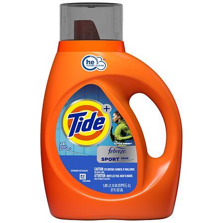 Tide With Febreze Freshness High Efficiency Liquid Detergent Sport - 37 fl oz