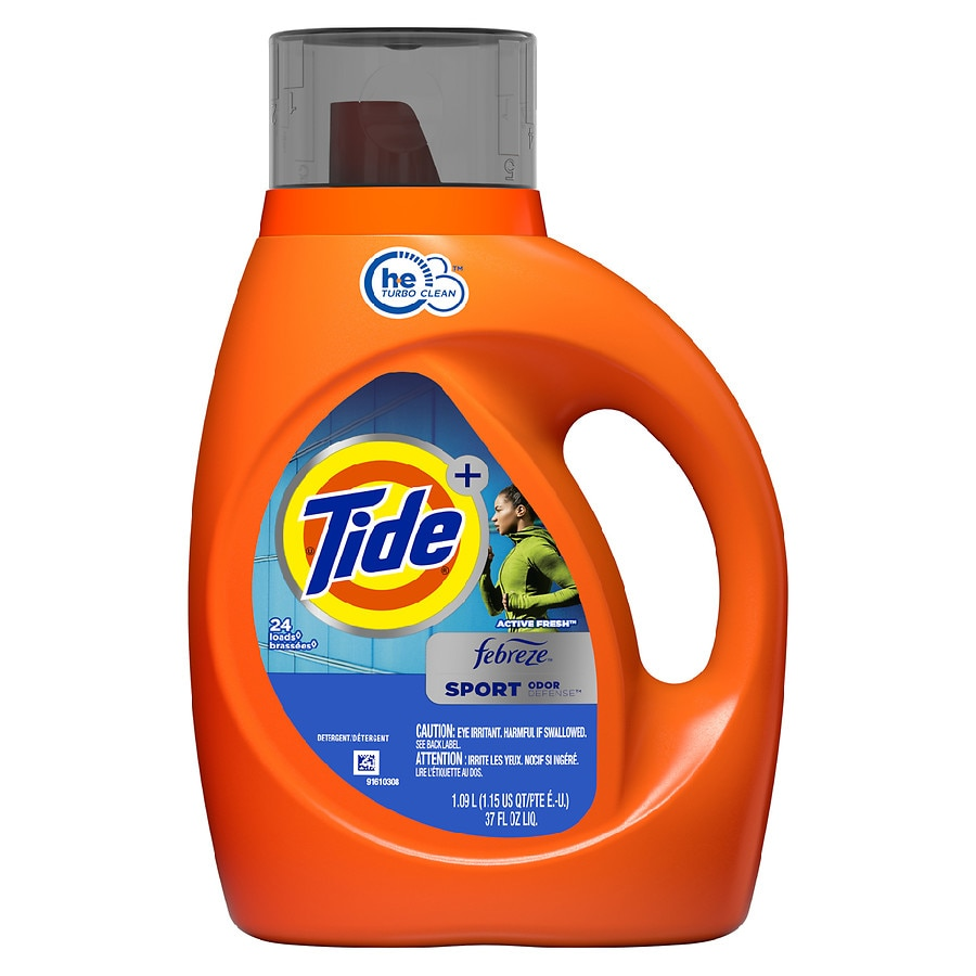 Tide With Febreze Freshness High Efficiency Liquid Detergent Sport37.0 fl oz(1.09L)