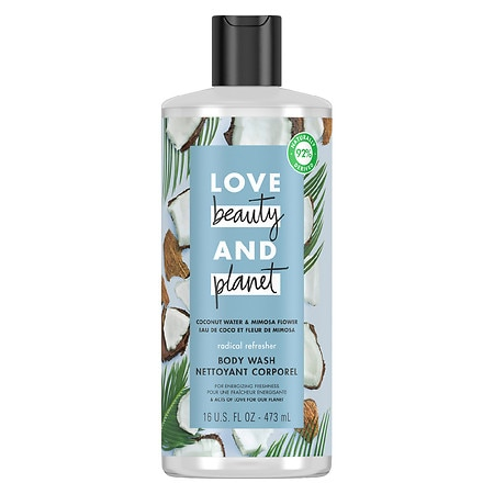 Love, Beauty & Planet Radical Refresher Body Wash Coconut Water & Mimosa Flower - 16 oz.
