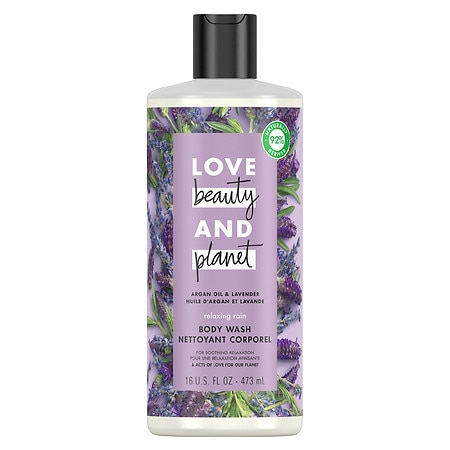 Love, Beauty & Planet Relaxing Rain Body Wash Argan Oil & Lavender - 16 oz.