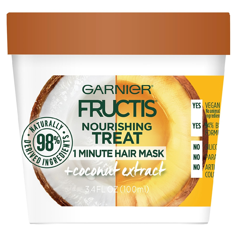 Garnier Fructis Nourishing Treat 1 Minute Hair Mask With Coconut