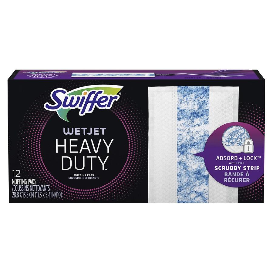 swiffer wetjet hardwood floor cleaner spray mop pad refill heavy