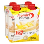 Premier Protein High Protein Shakes Bananas & Cream Bananas & Cream